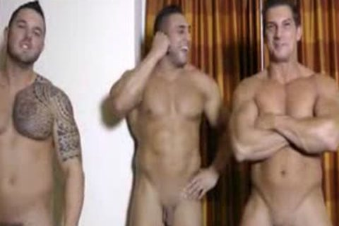 three Hunks wanking And Showering