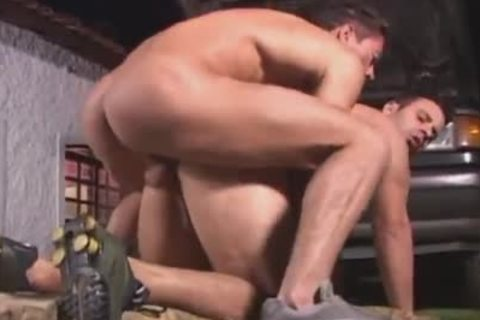 muscular meaty gay men banging In Front Of A Truck