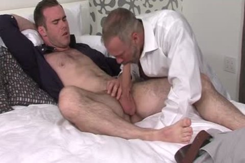 Silver Fox Dallas Steele And Clean Cut weenie Matthew Bosch cum jointly
