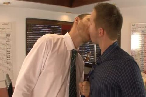 lusty homosexuals lick And Hump booties In The Office