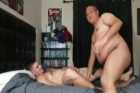 overweight Bottom drilled By A Straight man