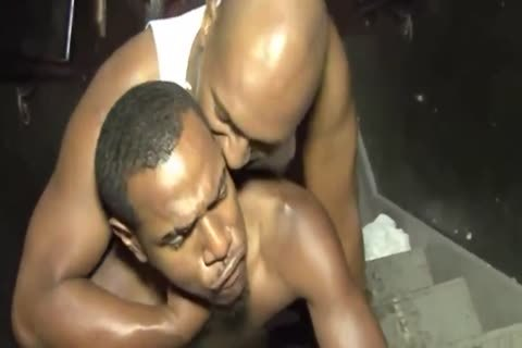 black dudes fucking On Staircase