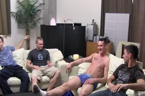 Kaden, Bric, Axl And Chaz Military Muscle 4some