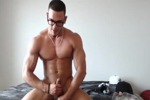 wild Redbone Jacking His jock And Busting A Nut!